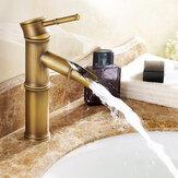 Bambu Vintage Bronz Banyo Havzası Evye Bataryası Sıcak ve Soğuk Su Güverte Dağı Mikser Dokunun