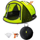 Zenph Double-layer Tent 3-4 People From 3 Seconds Automatic Opening Family Camping Tent Outdoor Waterproof Sun Shelter