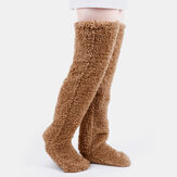Mujeres calientes Plus Espesar Plush Treasure Foot Warmer House Wear Medias para dormir