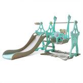 Zestaw dziecięcy 3-w-1 Zjeżdżalnia i huśtawka dla małych dzieci Wolnostojące zjeżdżalnie do wspinaczki Zestaw zabaw Kryty plac zabaw dla dzieci