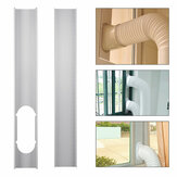 2pcs Adjustable Window Slide Kit Plate Air Conditioner Wind Shield For Portable Air Conditioner