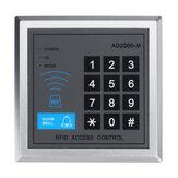 Sistema de controle de porta por proximidade de 125KHz Controlador de acesso autônomo com 10pcs EM chaveiros RFID Teclado de controle de acesso Painel digital Leitor de cartão