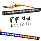 22LED Colorful RC Intermitente luz LED Bar Roof Lámpara Kit para 1/10 TRX4 SCX10 90046 RC Crawler Truck