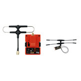FrSky R9M 2019 900MHz Long Range Transmitter Module and R9 Slim+ OTA ACCESS RC Receiver with Mounted Super 8 and T antenna