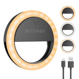 BlitzWolf® BW-SL0 Pro LED Ring Light Clip-on Fill Light Mini Portable Selfie Lights 600mAh 1000 Lumens High Brightness Selfie Lights