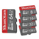 ShanDian High Speed 8GB-256GB Karta pamięci SD / TF klasy 10 Flash Napęd z adapterem karty dla iPhone 12 dla Samsung Galaxy S21 Smartphone Tablet Przełącznik Głośnik Drone Rejestrator samochodowy GPS Kamera
