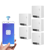 5pcs SONOFF MiniR2 Two Way Smart Switch 10A AC100-240V Funciona com Amazon Alexa Google Home Assistant Nest Suporta modo DIY Permite Flash o Firmware