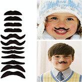 12pcs/Set Artificial Mustache Funny Artificial Beard for Party Halloween Christmas