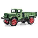 Camion militare modello URUAV 1/24 27Mhz 4WD cingolato fuoristrada RC Car RTR