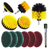 12Pcs Drill Brush Set Tub Cleaner Grout Power Scrubber Cleaning Attachments Kit