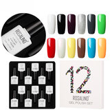 روزاليند 12pcs 10ML نقع قبالة صالون UV Nail Gel Polish Nail A