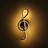 85-265V 12W Modern Wall LED Lights Lamp Music Note Shape Indoor Sconce Porch Bedroom Living
