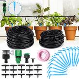 37PCS Automatisches Mikrotropfen-Bewässerungssystem 10M 8M Gartenbewässerungsspray Selbstbewässernde Kits