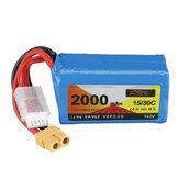 ZOP Power 14,8V 2000mAh 15 / 30C 4S LR Li-ion Bateria Plugue XT60 para FPV RC Racing Drone
