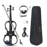 4/4 Violino elettrico Full Size Basswood con linea di collegamento Auricolare e custodia per principianti