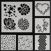 Nokta Yıldız Kalp Gül Sakura Çiçek Boyama Şablonlar DIY Karalama Defteri Fotoğraf Albümü El Zanaat