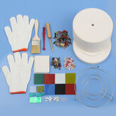 15Pcs Large Microwave Kiln Kit Glass Fusing Kit DIY Jewelry Art