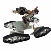 DoArm T900 Robot Tank Car Chassis with S7 Robot Arm Claw For