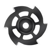 Drillpro Disco de talla de madera de 115 mm 6 Inserciones de carburo redondas cuadradas Disco de amoladora angular Disco de moldeado de madera Disco de corte de carpintería