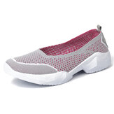 Women Hollow Out Casual Comfy Slip On Sneakers