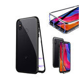 Bakeey 360° Magnetic Adsorption Flip Metal Clear Tempered Glass Protective Case for Xiaomi Mi8 SE