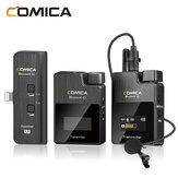 Comica BoomX-D MI1 2T1R2.4GデジタルワイヤレスラベリアマイクiPhone携帯電話用Lightningポート用