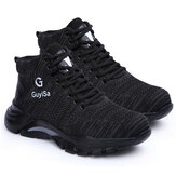 AtreGo Men Safety Work Shoes Steel Toe Cap Hiking Running Trainers High Top Boot
