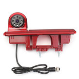170 Degree Rear View Camera Reverse Backup Camera IR LED 3RD Third Brake Light Night PAL Vision For Renault Trafic