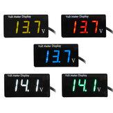 Medidor de display digital DC à prova d'água sem suporte Instrumento de medição de tensão integrado DC8-150V para motocicleta de carro elétrico