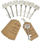 60 sztuk Heavy-Duty metalowy szkielet klucz otwieracz do butelek Wedding Favor Dekoracja z Escort Tag Card