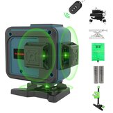 HANMATEK 12 Lines 3D Self-Leveling 360° Green Cross Line Laser Level with Pulse Enhancement Mode + Remote Control + Oblique Mode Oblique Alarm