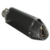38-51mm Motorcycle Carbon Fiber Exhaust Muffler Pipe With Removable DB Killer