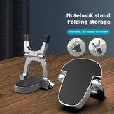 Bakeey 1 paar draagbare dubbellaagse opvouwbare aluminium macbook mobiele telefoon tablet desktop houder standaard riser