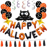 1 Set Happy Halloween Decoraties Bat Balloon Party Opknoping Letter Ballonnen Prop