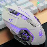 Free Wolf 4000DPI 6 Botão LED Mouse de jogo óptico Mecânico Macro programável para PC Laptop