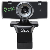 GSOU B18s USB 2.0 HD 12 Megapixels Webcam Free Drive Computer Camera with Microphone MIC