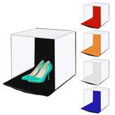 PULUZ PU5140 Fotoğraf Softbox 40 cm Taşınabilir Katlanır Stüdyo Çekim Çadır Kutu Kitleri ile 5 Renk Zemin