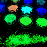1 bottiglia Dancingnail Luminoso Unghie Polvere Halloween Fluorescente Glow Decorazione Dust Colorful Manic