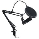 Kablolu Masaüstü USB Mikrofon Bilgisayar PC için Standlı Set Canlı Yayın Video Konferans Oyun Ses Kaydı YouTube Karaoke