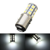 6000K 12V BA20D H6 24 LED SMD Motosiklet Moped ATV Pit Ön Far Ampulü