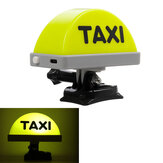 LED TAXI Sign Light Helmet/Handlebar Mounting USB Rechargeable Indicator Decoration Kit For Motorcycle Tricycles Electric Bike