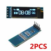 2Pcs Geekcreit 0.91 Inch 128x32 IIC I2C Blue OLED LCD Display DIY Oled Module SSD1306 Driver IC DC 3.3V 5V