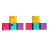4Pcs a Set CMYK Color OEM Profile PBT Dyesub Keycaps WASD Arrow Key Direction Keycap Set