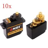10PCS EMAX ES08MA II Mini 12g Metal Gear analógico servo para RC modelo