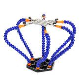 6 braços de garra que ajudam a ferramenta Solda flexível para suporte de mesa braçadeira