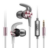 AUGIENB RX-E3 3.5mm Sterowanie przewodowe Słuchawki Stereo Heavy Bass Muzyka Sport Słuchawki z mikrofonem