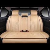 4db PU bőr Deluxe autóhuzat ülésvédő párna hátsó burkolat univerzális készlet