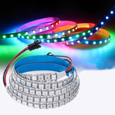 DC5V 1M 144LED WS2812B 5050SMD Built-In IC IP20 RGB LED Light Strip per interni KTV Bar dell'hotel