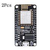 2個GeekcreitV2ESP8266開発ボードまたはIOTNodeMcu ESP12E Lua L293D