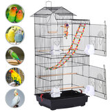 Black 39 inch Bird Cage Parrot Cage Budgie Canary Cage With Bird Toy